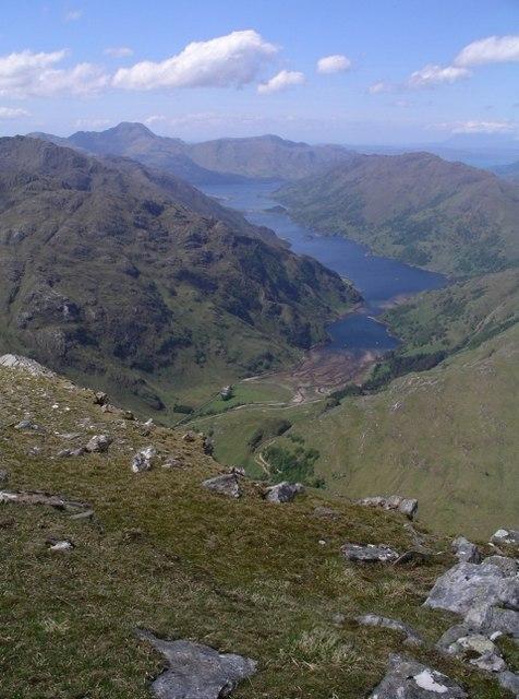 Loch Beag from Sgurr a' Mhaoraich Beag