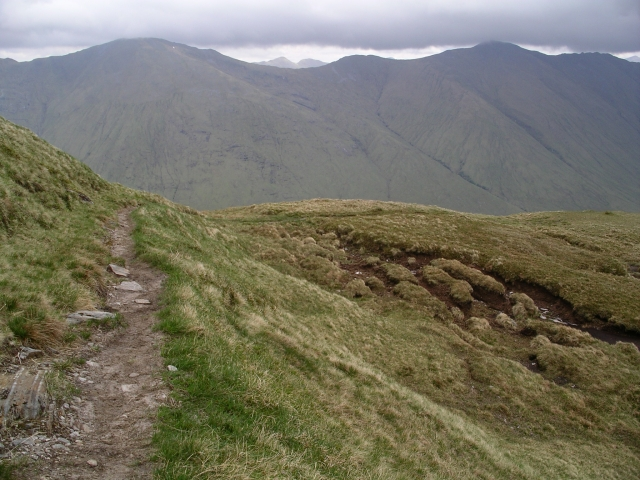 Stalkers path and peat hags, Sgurr Choire nan Eiricheallach
