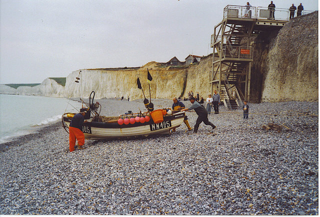 The Birling Gap Fishing Fleet Puts to Sea.