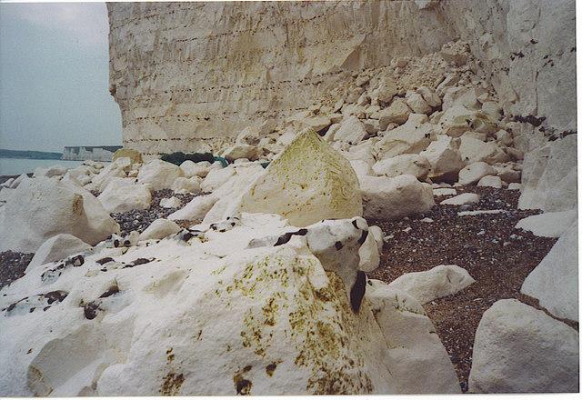Fresh Chalk Cliff-fall Below Belle Tout.