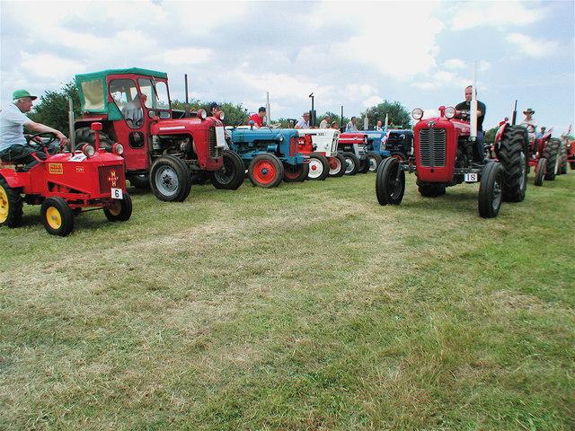 Vintage tractors on parade at Boyes Lane, Keyingham