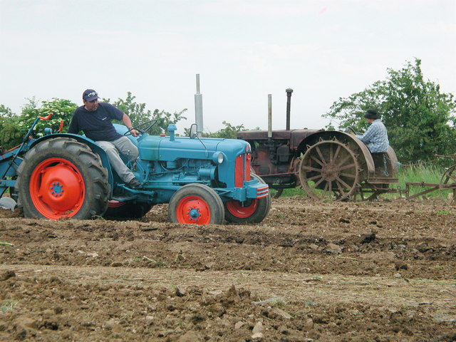 Vintage tractors on show at Boyes Lane, Keyingham