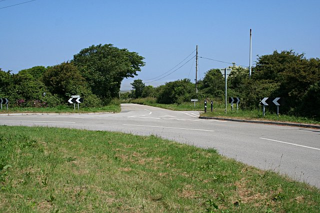 Road Junction near Treswithian Downs