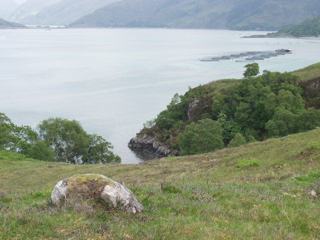 View up Loch Nevis from Cliffs at Easter Stoul