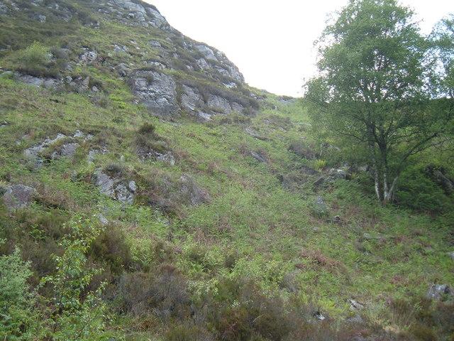 Rock Outcrops on Torr a'Chonnaidh