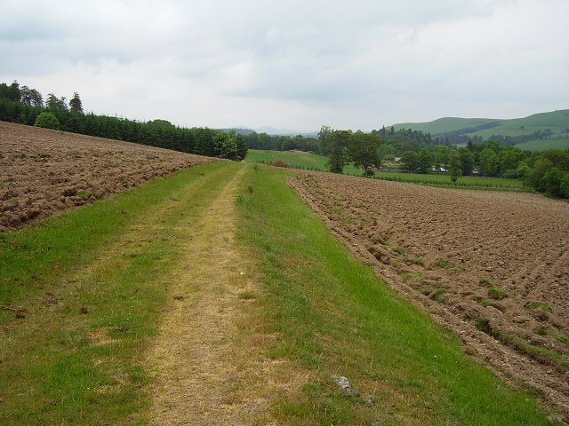 Ploughed field, Castlecraig Estate