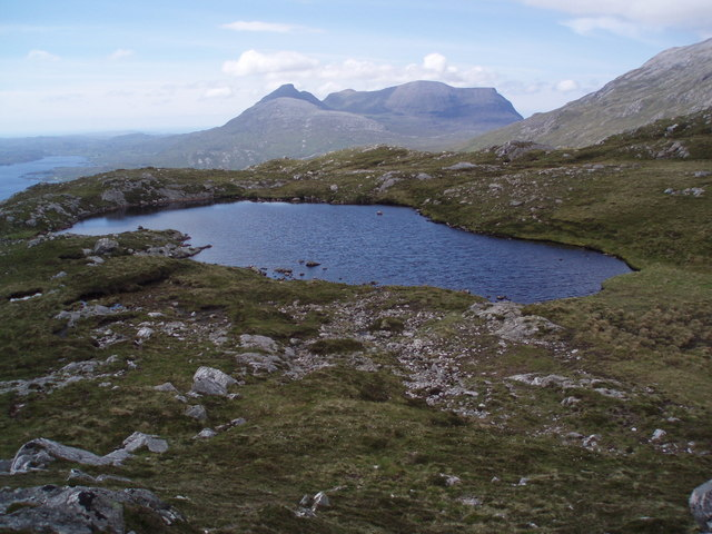 Quinag from mountain Lochain