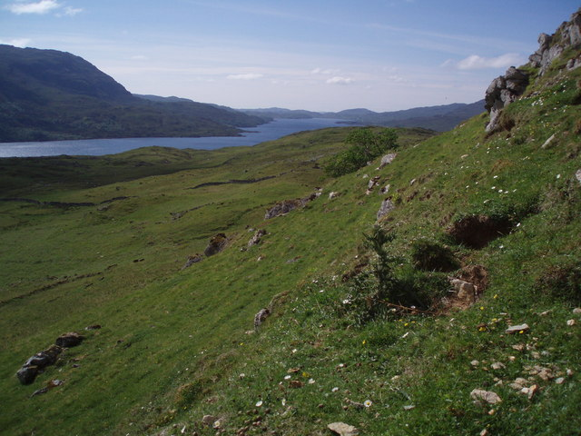 Loch Assynt from slopes above Inchnadamph