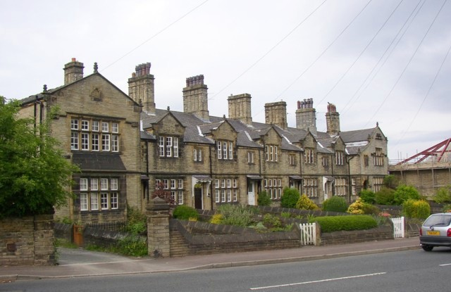 Houses opposite the church, Wakefield Road, Lightcliffe, Hipperholme