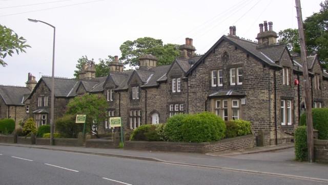 Houses below the church, Wakefield Road, Lightcliffe, Hipperholme