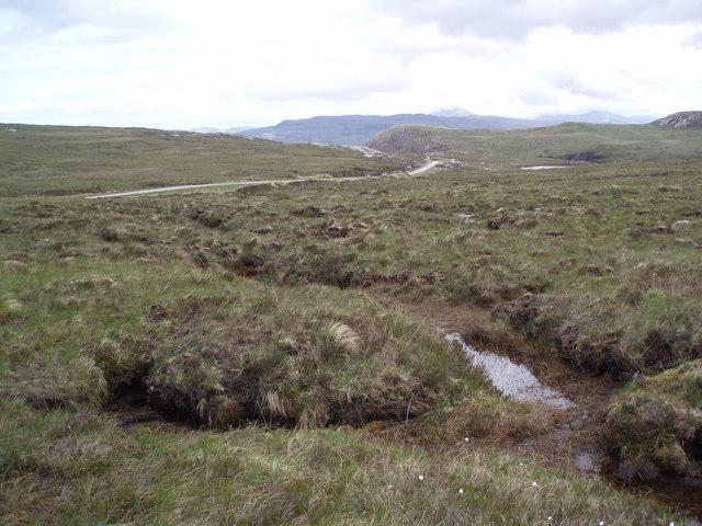 Boggy moorland near A894.