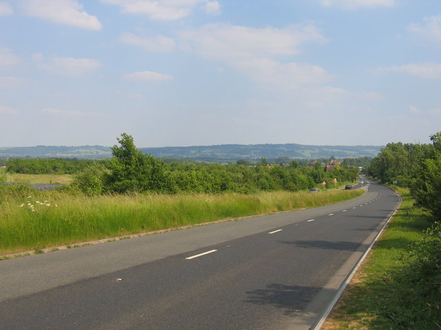 The Oxford road at Longdon Hill