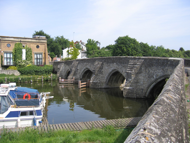 Medieval bridge over the Medway, East Farleigh, Kent