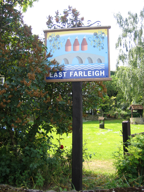 Village sign, East Farleigh, Kent