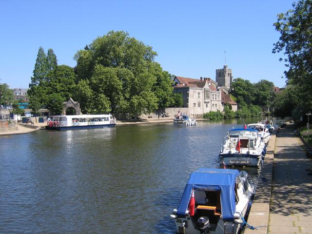 River Medway at Maidstone, Kent