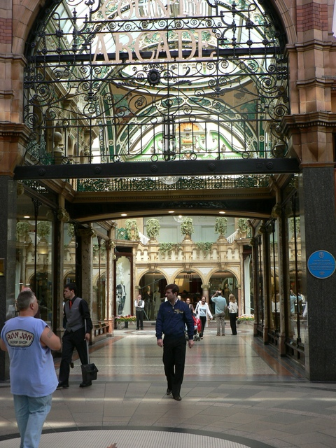 Cross Arcade from The Victoria Quarter, Leeds