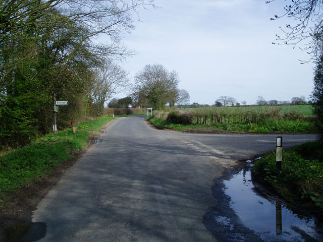 Road Junction near Bilbrough