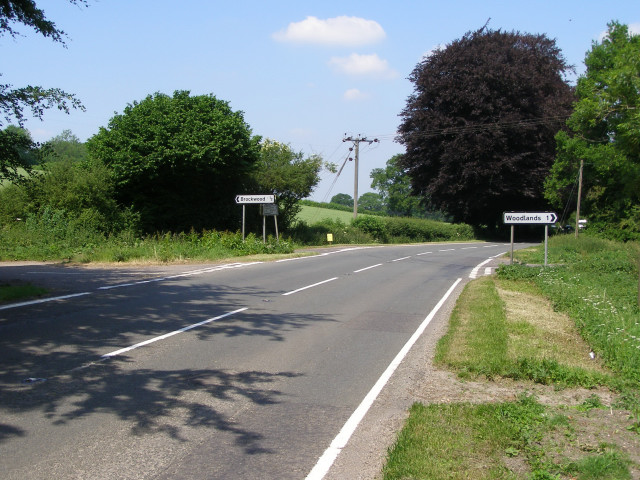 Crossroads on the A272 east of Bramdean