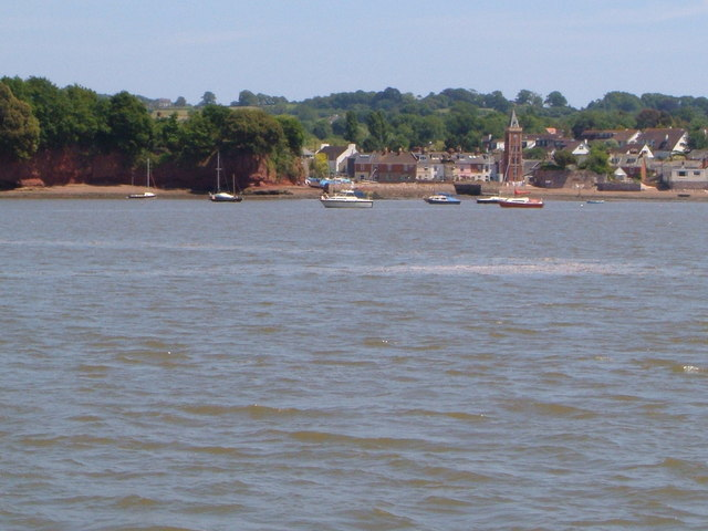 Lympstone from the Exe estuary