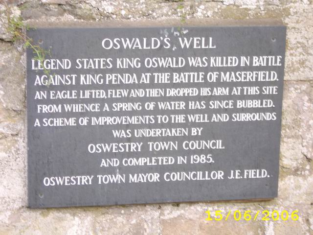 St. Oswald's Well Plaque