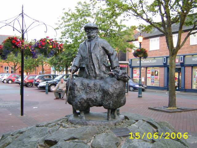 Statue in Oswestry Town Centre