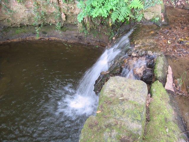 Waterfall in Lindwaysprings Brook