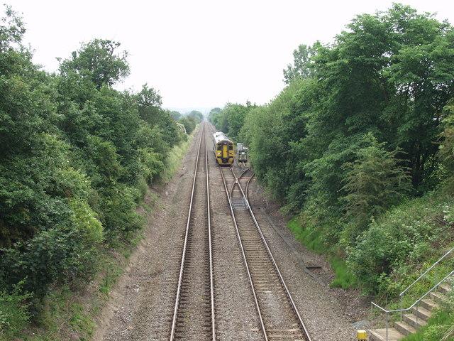 Shrewsbury to Chester railway at Babbinswood