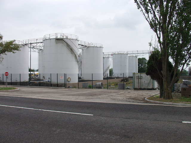 Oil  storage depot  at Babbinswood