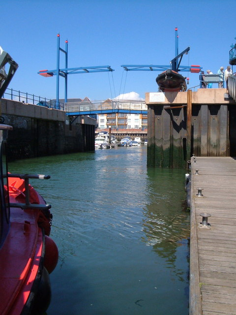 Entrance to Exmouth Dock