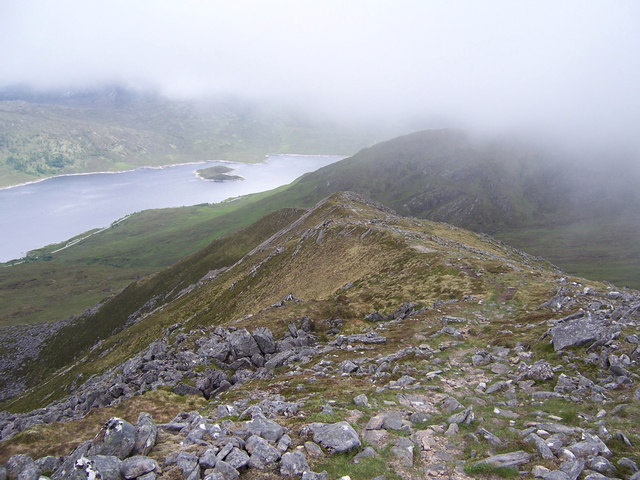 The west ridge of Carn Ghluasaid.