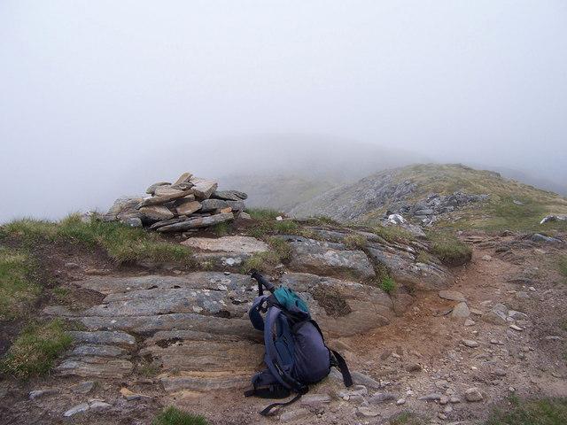 The summit cairn of Sail Chaorainn.