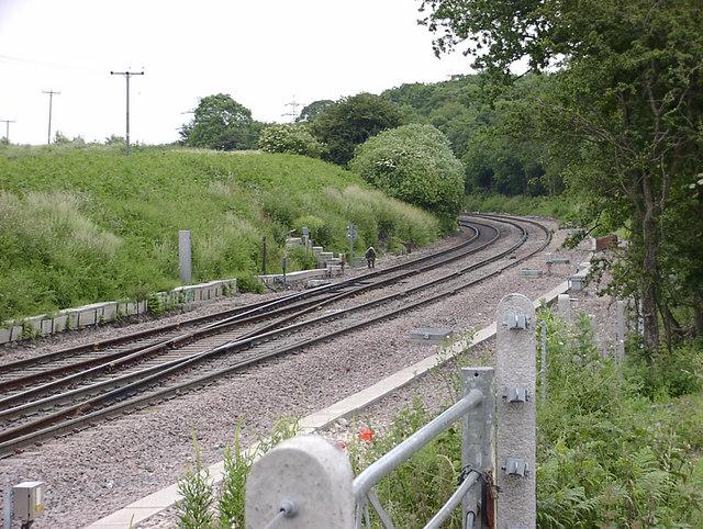 Railway just North of Dawes Lane, Santon