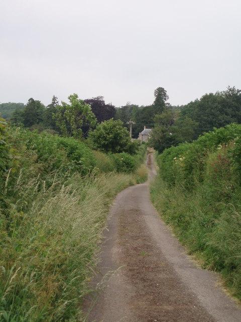 Lane leading to Sharcombe Grange