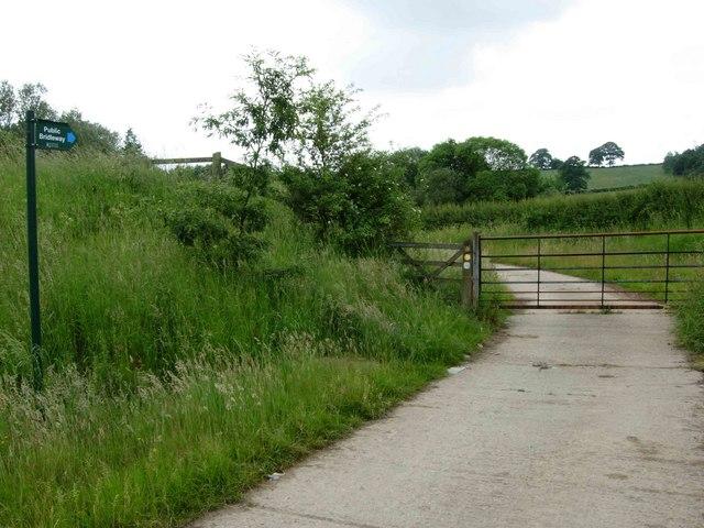 Bridleway to Lubcloud Farm