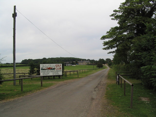 Entrance to Hardwick Farm, and the Rutland County Golf Club