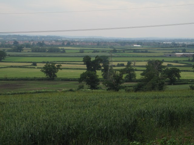 View over crops towards Bowerhill
