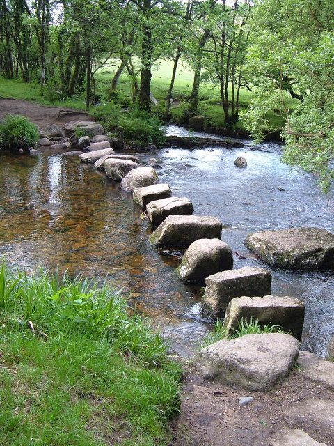 Stepping stones near Babeny