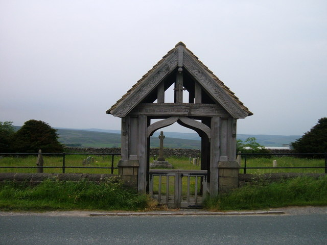 Mouseman lychgate at Greenhow