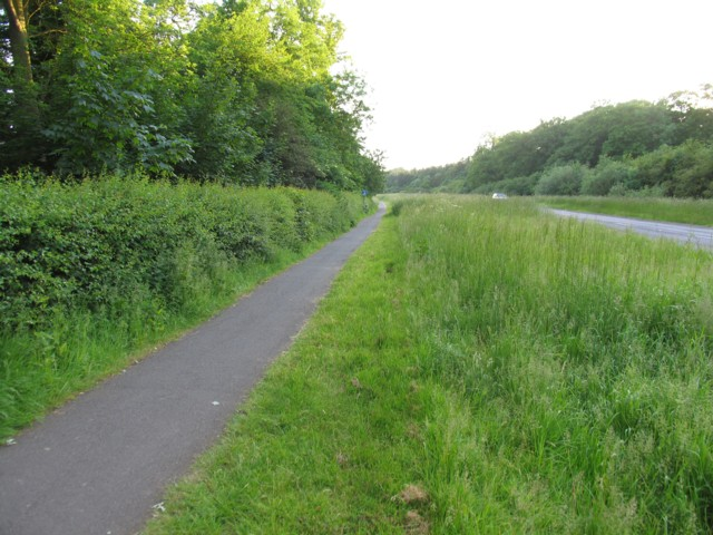 Cycle track round Rutland Water