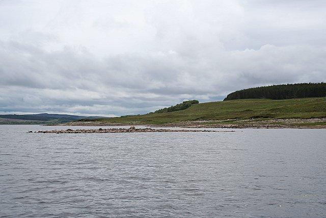 An islet on the western shore of Loch Shin.