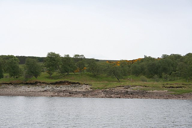 Where Allt a' Bhunn enters Loch Shin
