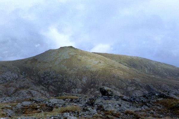 Hecla from bealach below Beinn Corradail.