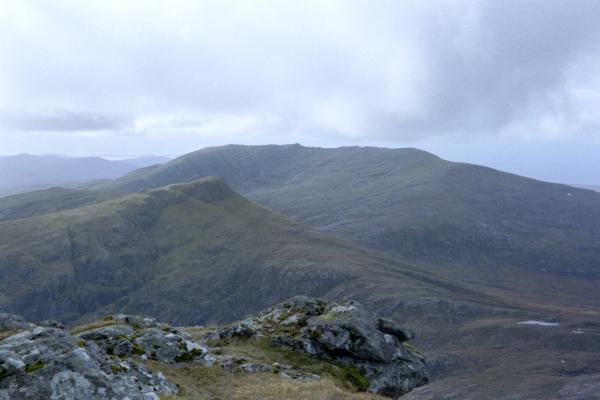 Hecla summit looking toward Bheinn Mhor, South Uist