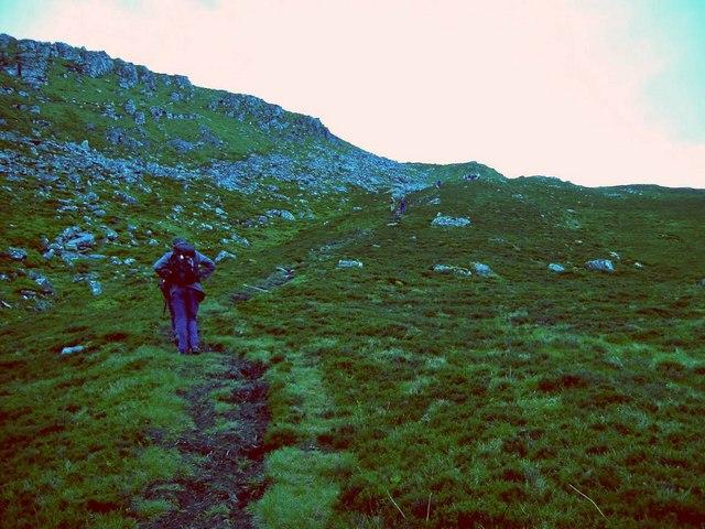 Climbing Sgurr an Airgid
