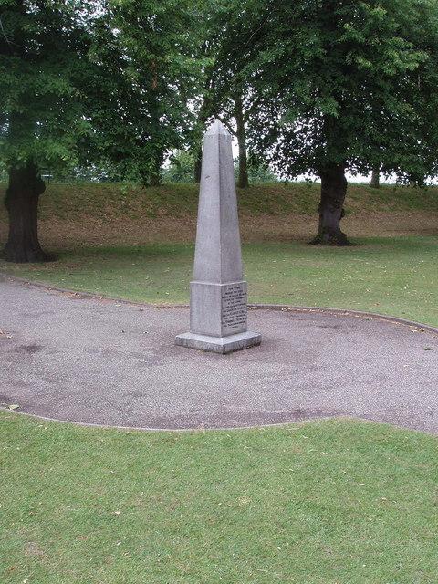 Civil war execution obelisk, Colchester castle