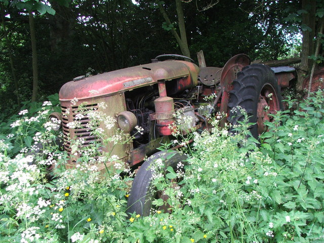 Abandoned Tractor at Low Raindale.