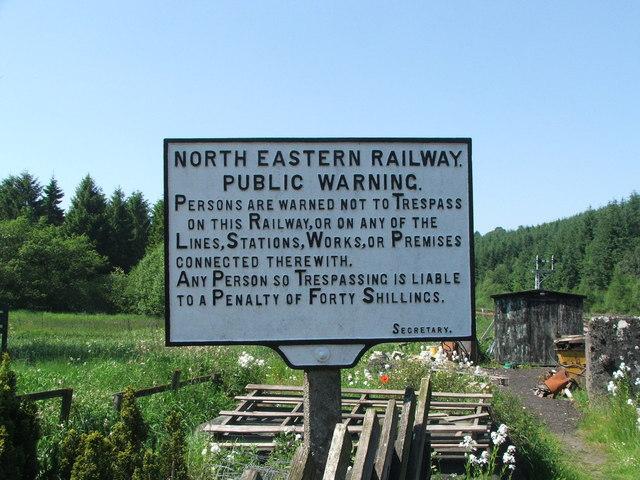 Sign at Levisham Station.