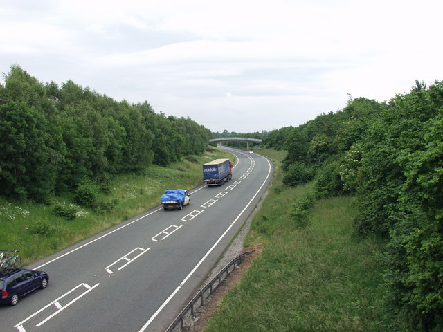 The A5 at West Felton