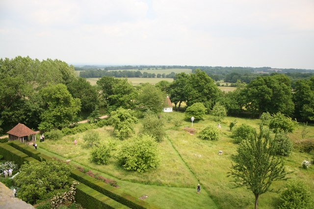 Sissinghurst - view across the orchard