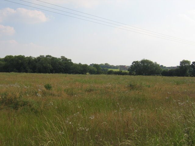 Distant view of Wickhamford